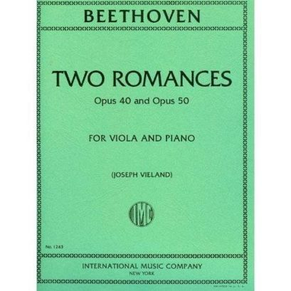 Beethoven Two Romances for Viola, Opus 40 & 50 – International Ed.