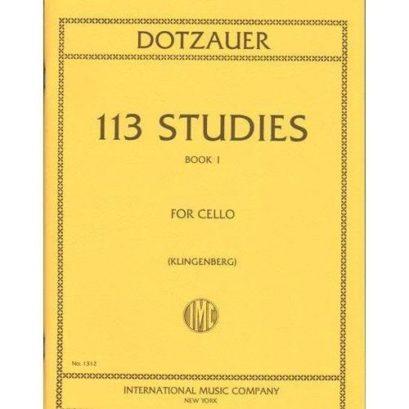 Dotzauer 113 Studies for Cello- Volume I – International Ed.