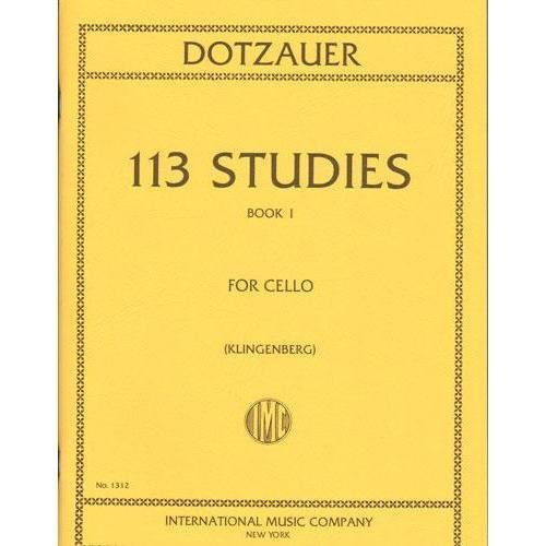 Dotzauer 113 Studies for Cello- Volume I - International Ed.