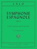 Lalo Symphonie Espagnole for Violin, Op. 21 - International Ed.