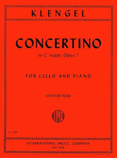Klengel Concertino in C major for Cello, Op. 7 – International Ed.