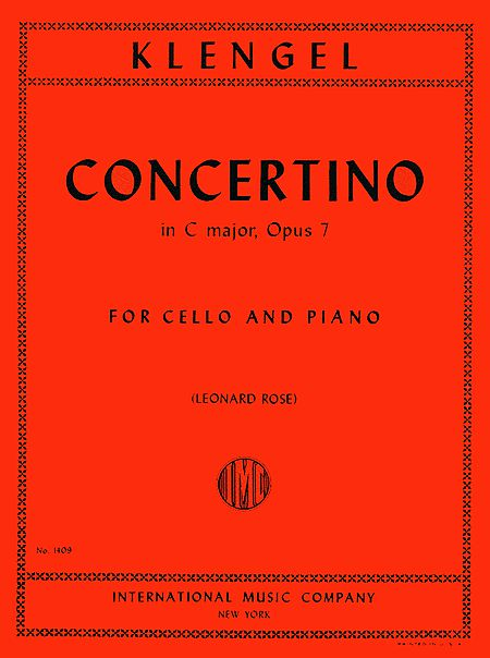 Klengel Concertino in C major for Cello, Op. 7 - International Ed.