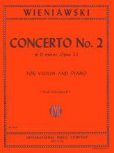 Wieniawski Concerto No. 2 in D minor for Violin, Opus 22 - International Ed.
