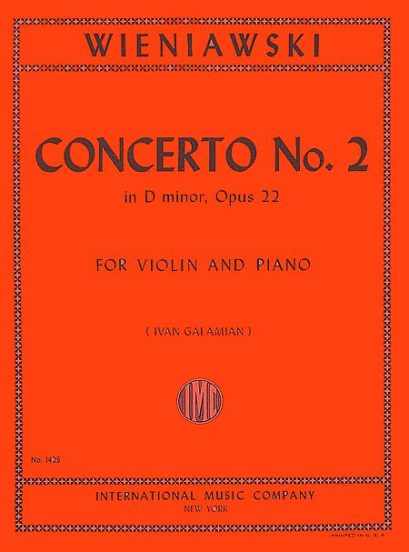 Wieniawski Concerto No. 2 in D minor for Violin, Opus 22 - International Ed.
