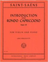 Saint-Saens Introduction & Rondo Capriccioso for Violin - International Ed.