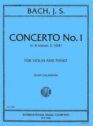 Bach Concerto No. 1 for Violin in A Minor - International Ed.