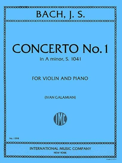 Bach Concerto No. 1 for Violin in A Minor - International Ed.