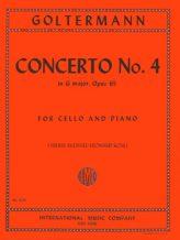 Goltermann Concerto No. 4 in G Major for Cello, Opus 65 - International Ed.