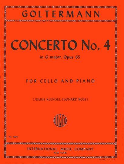 Goltermann Concerto No. 4 in G Major for Cello, Opus 65 – International Ed.