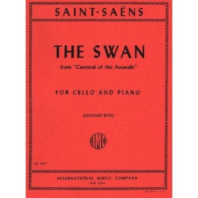 Saint Saens The Swan for Cello – International Ed.