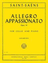 Saint Saens Allegro Appassionato for Cello, Op. 43 - International Ed.