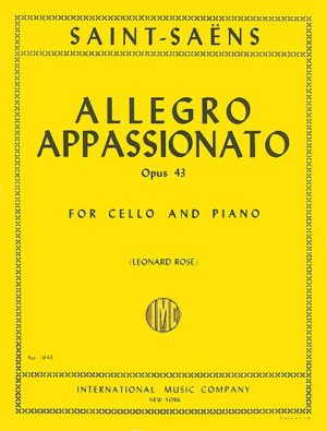 Saint Saens Allegro Appassionato for Cello, Op. 43 - International Ed.