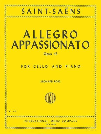 Saint Saens Allegro Appassionato for Cello, Op. 43 – International Ed.