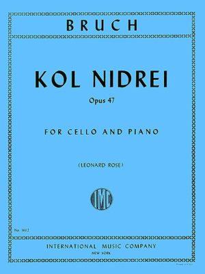 Bruch Kol Nidrei for Cello, Op. 47 - International Ed.