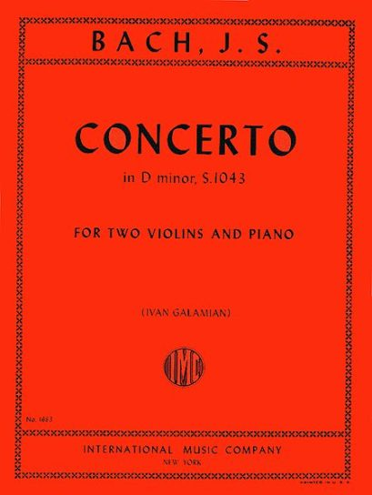 Bach Concerto in D minor for 2 Violins, BWV 1043 - International Ed.