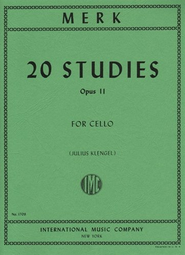 Merk 20 Studies for Cello, Opus 11 - International Ed.