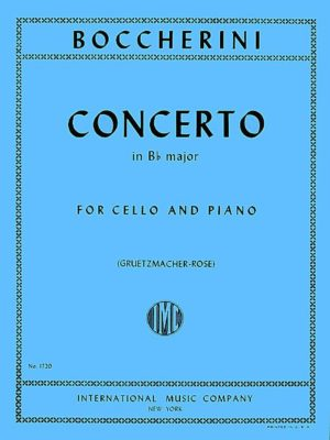 Boccherini Concerto in B flat Major for Cello - International Ed.