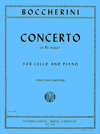 Boccherini Concerto in B flat Major for Cello – International Ed.