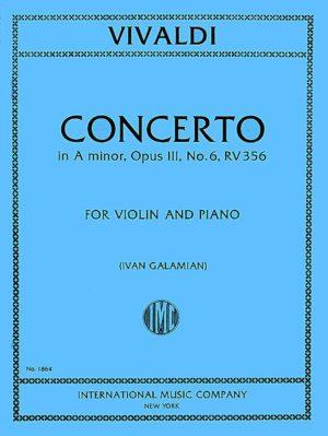 Vivaldi Concerto in A minor for Violin, RV 356 (Op. 3, No. 6) - International Ed.