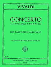 Vivaldi Concerto in A minor for 2 Violins and Piano, RV 522 - International Ed.