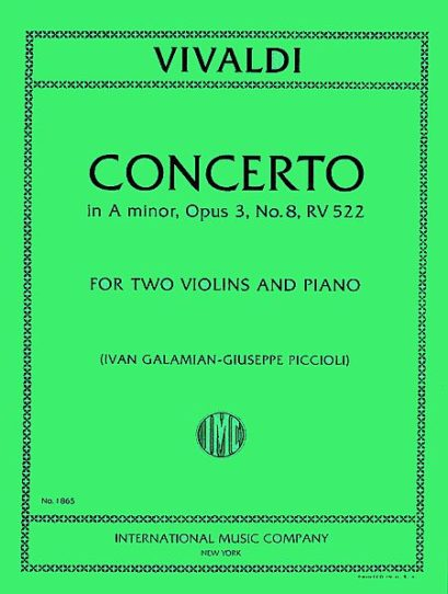 Vivaldi Concerto in A minor for 2 Violins and Piano, RV 522 – International Ed.