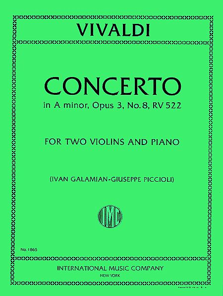 Vivaldi Concerto in A minor for 2 Violins and Piano, RV 522 - International Ed.