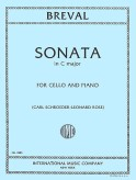 Breval Sonata in C Major for Cello - International Ed.