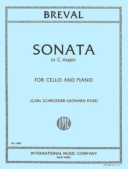 Breval Sonata in C Major for Cello – International Ed.