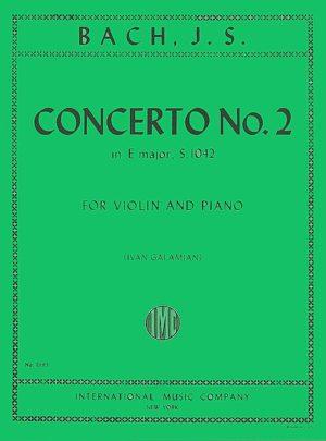 Bach Concerto No. 2 for Violin in E Major - International Ed.