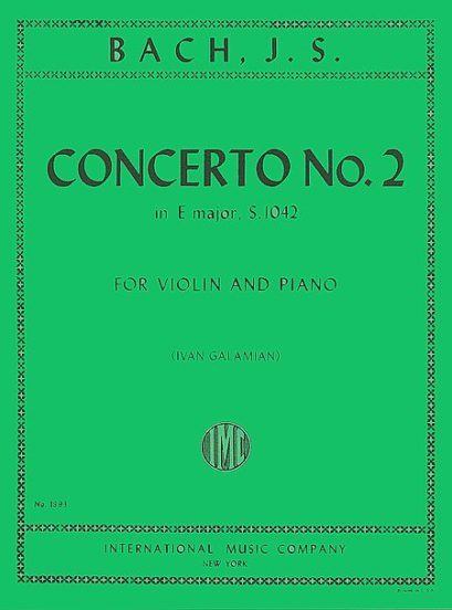 Bach Concerto No. 2 for Violin in E Major - International Ed.