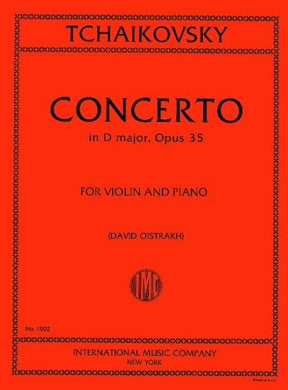 Tchaikovsky Concerto in D major for Violin, Op. 35 - International Ed.