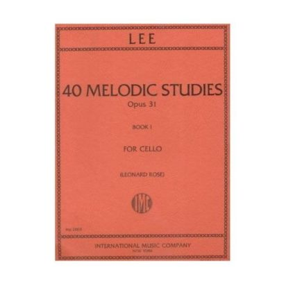 Lee 40 Melodic Studies for Cello – International Ed.