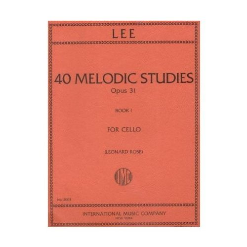 Lee 40 Melodic Studies for Cello - International Ed.