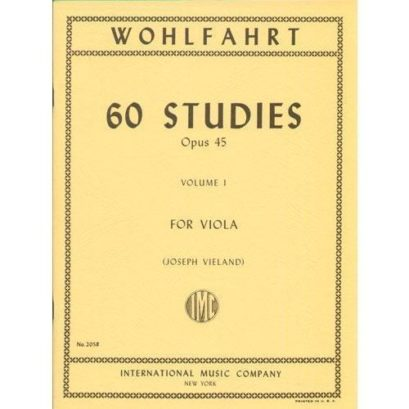 Wohlfahrt 60 Studies for Viola, Opus 45 – Volume I  – International Ed.
