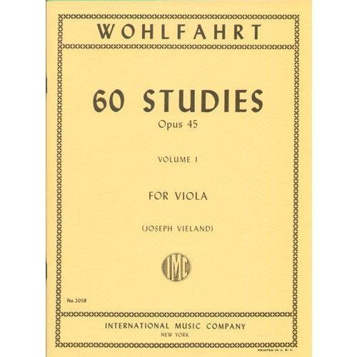 Wohlfahrt 60 Studies for Viola, Opus 45 - Volume I - International Ed.