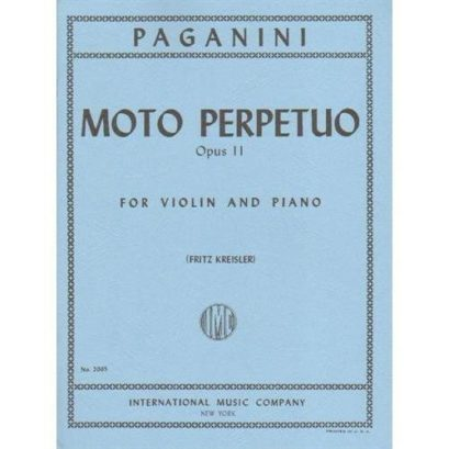 Paganini Moto Perpetuo for Violin, Opus 11 - International Ed.