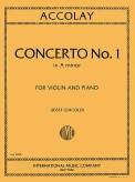 Accolay Concerto No. 1 for Violin in A Minor - International ed.