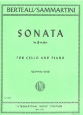 Berteau Sonata in G Major for Cello (formerly attributed to Sammartini) - International Ed.