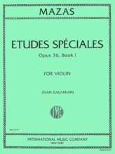 Mazas Etudes Speciales for Violin, Op. 36 No. 1- International Ed.
