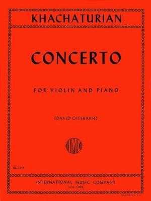 Khachaturian Concerto for Violin - International Ed.