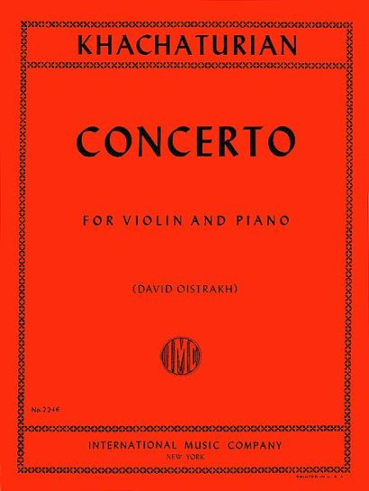 Khachaturian Concerto for Violin – International Ed.
