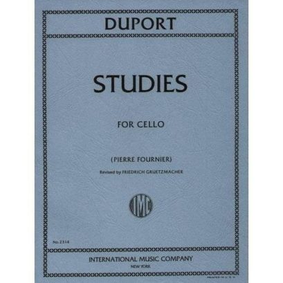 Duport 21 Studies for Cello – International Ed.
