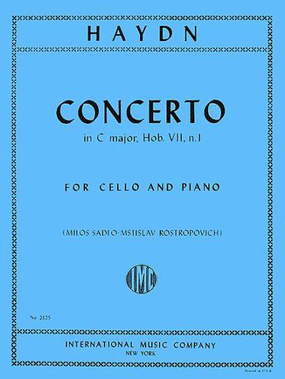 Haydn Concerto in C Major for Cello, Hob. VIIb: No. 1 – International Ed.