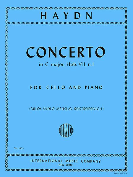 Haydn Concerto in C Major for Cello, Hob. VIIb: No. 1 - International Ed.
