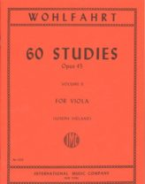 Wohlfahrt 60 Studies for Viola, Opus 45 – Volume II – International Ed.