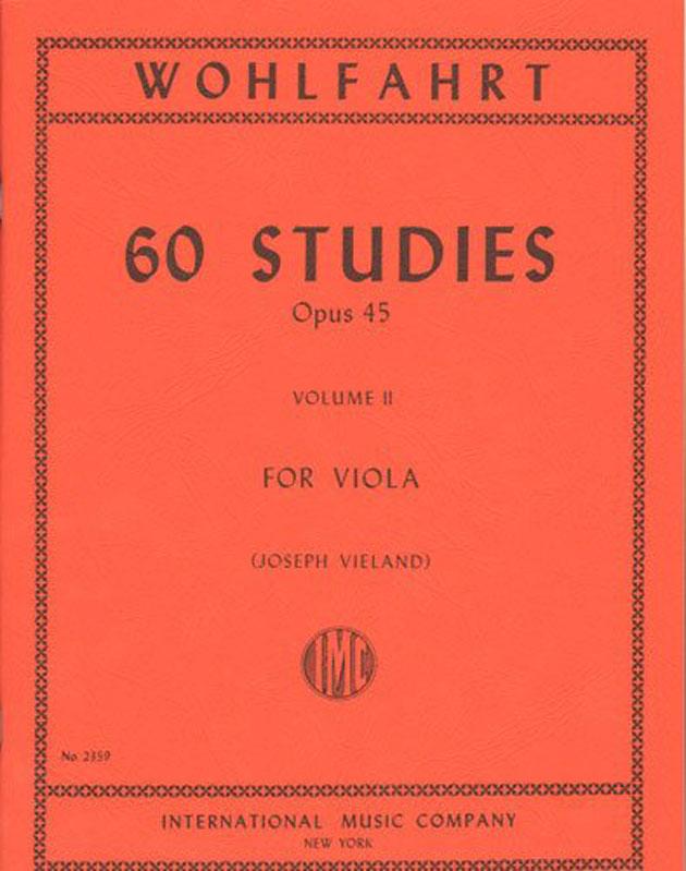 Wohlfahrt 60 Studies for Viola, Opus 45 - Volume II - International Ed.
