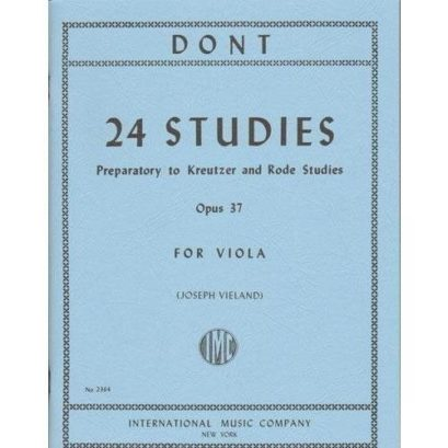 Dont 24 Studies for Viola, Op. 37 (preparatory to Kreutzer and Rode Studies) – International Ed.