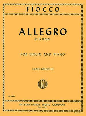 Fiocco Allegro for Violin - International Ed.