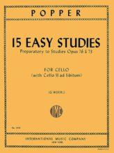 Popper 15 Easy Studies for Cello (1st position) (Preparatory to Opus 73 & 76) - International Ed.