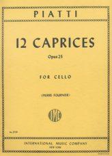 Piatti 12 Caprices for Cello, Op. 25 - International Ed.
